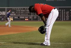 Boston, MA - 7/22/2016 - {9th inning) Boston Red Sox designated hitter David Ortiz (34) reacts after hitting into a double play in the bottom of the ninth inning with bases loaded. The Boston Red Sox take on the Minnesota Twins in Game 2 of a 4 game series at Fenway Park. - (Barry Chin/Globe Staff), Section: Sports, Reporter: Peter Abraham, Topic: 23Red Sox-Twins, LOID: 8.2.3687102459 .