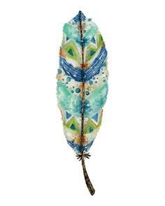 11x14 Art Print. Seaside Feather by TheOpulentNest on Etsy, $22.00