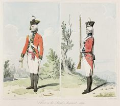 The Royal Scots - First Regiment of Foot circa.1792. Officer and Private.