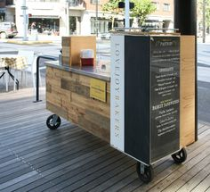 Fix Studio - Portland, OR, United States. Custom design and fabrication of mobile coffee cart for Fix Studio designed Lovejoy Bakers.