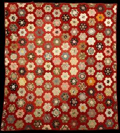 Grandmother's Flower Garden quilt brought to Alberta from Kentucky, Royal Alberta Museum (Canada)
