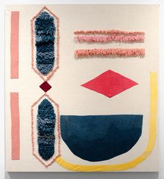 Caroline Hwang Time Passes in a Constant State 2013Madder Root, Cochineal, Indigo, Tumeric, Silk, Cotton, Wool40 x 48 in
