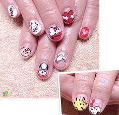 nail art for short nails Great Nails, Cute Nail Art, Snoopy Nails, New Years Eve Nails, Animal Nail Art, Fancy Nails, Nail Tutorials, Spring Nails, Wedding Nails