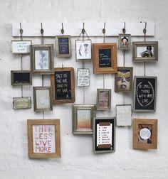 Glazen fotolijstje met antique finish en metalen kettinkje. Beide kanten van het fotolijstje zijn van glas, waardoor ;de lijstjes ideaal zijn ;te gebruiken om bijv.