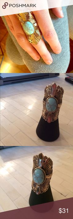 Vintage gold howlite ring Price is firm; I don't accept offers. No trades. Bundle and save! Jewelry Rings
