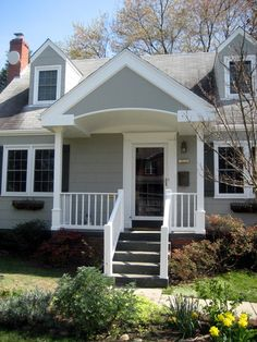 portico designs for cape cod style Front Door Awning, House Front Door, House With Porch, Door Overhang, Front Porch Addition, Front Porch Design, Small Front Porches, Cape Cod Exterior, Traditional Front Doors