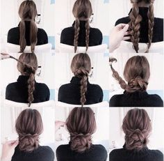 25 coole Frisuren für den Sommer 2019 25 cool hairstyles for the summer of 2019 Cute Simple Hairstyles, Pretty Hairstyles, Stylish Hairstyles, Hairstyle Short, Summer Hairstyles, Easy Bun Hairstyles For Long Hair, Wedding Hairstyles, Pulled Back Hairstyles, Hairstyles 2016