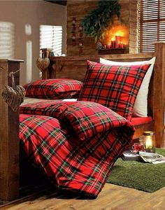 Loving the tartan duvet cover