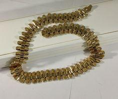 Vintage Halsschmuck - Kette Collier Halskette hartvergoldet selten MK140 - ein Designerstück von Atelier-Regina bei DaWanda