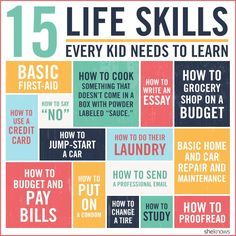 Life Skills Every Kid Needs and that you won't learn in school and in most cases not from your parents either