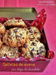 Los Antojitos de María: Galletas de avena con chips de chocolate
