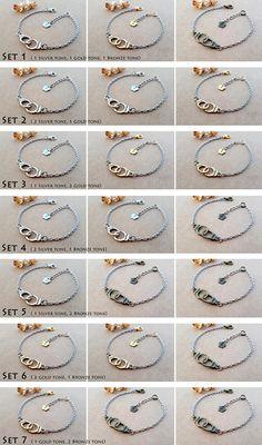 3 Handcuffs Bracelets Partners in crime Best Friend