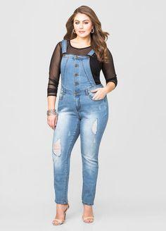 Vestido plus size jeans da marden