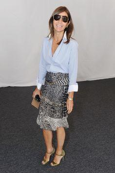 Carine Roitfeld Photo - Seen Around Lincoln Center - Day 7 - Spring 2012 Mercedes-Benz Fashion Week