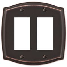Amerelle Wall Plates Amerelle Sonoma 159Tbn 1 Toggle Switch Wall Plate Cover Brushed