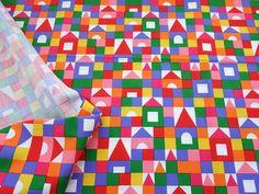 ▲綿(コットン) - 商品詳細 コットンプリント つみき 110cm巾/生地の専門店 布もよう