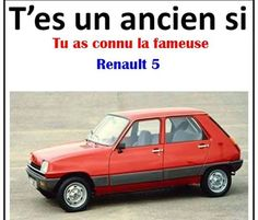 Renault 5. Old Cars, Good Times, Classic Cars, Memories, Vehicles, Oui, Vintage, Type 3, Facebook