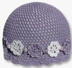 beautiful brim of crocheted hat.This site has lots of free patterns! Great knitting patterns too! Crochet Adult Hat, Crochet Baby Hats, Crochet Beanie, Knit Or Crochet, Crochet Scarves, Crochet Crafts, Crochet Clothes, Crochet Projects, Knitted Hats