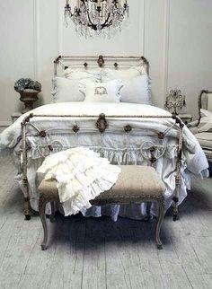 French Country Charm - thepreppyyogini: Miss Havisham bedroom. Minus...