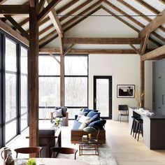 """1,819 Likes, 34 Comments - Remodelista (@remodelista) on Instagram: """"Sustainable style: a barn-like retreat in the Hudson Valley on RM today. By @barliswedlick…"""""""