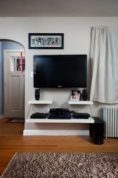 Ikea Lack Shelf Above Tv For The Home Pinte