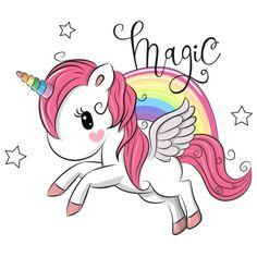 Unicorn Wallpaper Cute, Unicornios Wallpaper, Cute Rainbow Unicorn, Kids Cartoon Characters, Unicorn Pictures, Little Pony Party, Belly Painting, Unicorn Art, Lesage