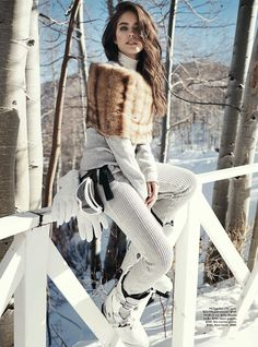 let it snow: emily didonato by benny horne for vogue australia june 2014