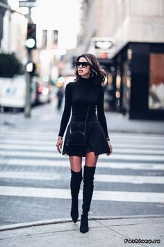 Total black looks.Подборка образов