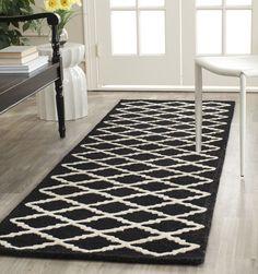 Sandra Ivory & Black Geometric Wool Hand-Tufted Area Rug