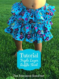 Triple Layer Ruffle Skirt