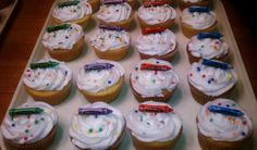 Color cupcakes  8.22.12