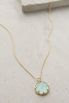Wear this simple, dainty gem pendant necklace everyday