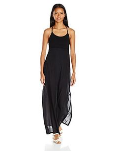 2f58f2ca4 RVCA Junior's Kambria Maxi Dress, Black, Medium at Amazon Women's Clothing  store: