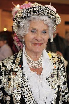 The Pearlies Phyllis Broadbent Queen Islington