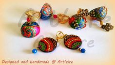 I think these are pa Paper Quilling Earrings, Quilling Jewelry, Paper Jewelry, Quilling Art, Paper Beads, Silk Thread Bangles, Thread Jewellery, Diy Earrings, Stud Earrings