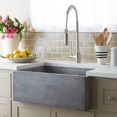 "Found it at Wayfair - Farmhouse 30"" x 18"" Stone Kitchen Sink Love this texture of the farm house sink! #LGLimitlessDesign #Contest"