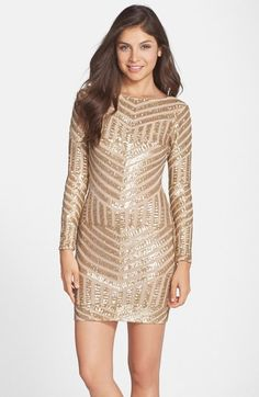 Dress the Population 'Lola' Sequin Body-Con Dress available at #Nordstrom