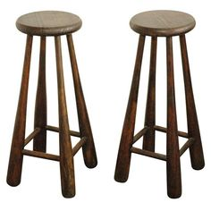 Baseball bat stools- vintage bats for legs and bases as seat. Can custom stencil number or team on seat.
