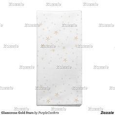 Glamorous Gold Stars Cloth Napkins