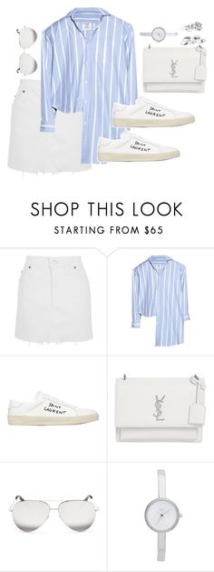 """Untitled #3314"" by theaverageauburn ❤ liked on Polyvore featuring Topshop, Vetements, Yves Saint Laurent, Victoria Beckham and DKNY"