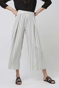 Stripe Cropped Wide Leg Trousers - New In This Week - New In - Topshop