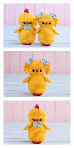Amigurumi Easter Chick and Bunny Free Pattern – Free Amigurumi Patterns Crochet Amigurumi Free Patterns, Crochet Animal Patterns, Crochet Doll Pattern, Stuffed Animal Patterns, Crochet Dolls, Doll Patterns, Free Crochet, Easter Crochet, Crochet Bunny