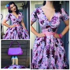 Retro Fashion Miss Victory Violet.I love this lady! Pin Up Outfits, Retro Outfits, Classy Outfits, Vintage Outfits, Cute Outfits, Rockabilly Fashion, 1950s Fashion, Vintage Fashion, Rockabilly Style