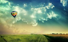 Image discovered by ♛ Look at Me ♔. Find images and videos about sky, Dream and clouds on We Heart It - the app to get lost in what you love. Air Balloon Rides, Hot Air Balloon, Fire Balloon, Balloon Clouds, Hd Sky, Juan Les Pins, Vladimir Kush, Destinations, Motivational Posters