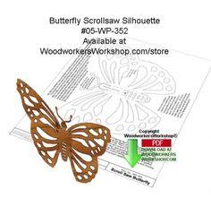 05-WP-352 - Butterfly Scrollsaw Silhouette Downloadable Wood Pattern PDF