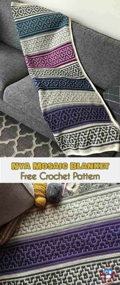 NYA Mosaic Blanket – Free Crochet Pattern | Your Crochet