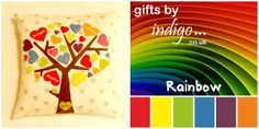 Family Tree Cushion Covers - Rainbow - The Supermums Craft Fair
