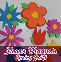 Cook and Craft Me Crazy: Foam Fridge Flowers Crafts For Girls, Arts And Crafts, Paper Crafts, Diy Crafts, Children's Church Crafts, Girl Scout Activities, Spring Crafts, Flower Crafts, Creative Crafts
