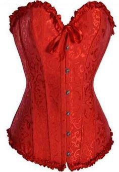 Sexy Corsé Rojo Glamour en uno de los colores más deseados por las mujeres. Un diseño especial que te hará vestir impresionante.