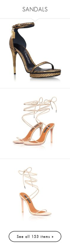 """""""SANDALS"""" by roexstylez89 ❤ liked on Polyvore featuring shoes, sandals, ankle strap platform sandals, tom ford shoes, ankle wrap sandals, tom ford sandals, high heel stilettos, black, ankle strap shoes and genuine leather shoes"""